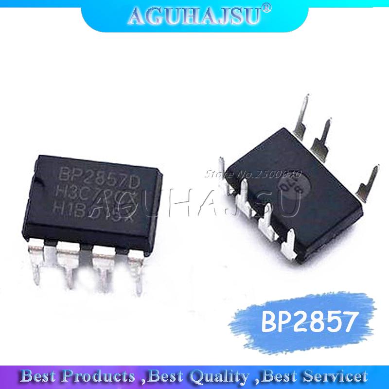 10 pces bp2857 bp2857d dip-7 não-isolado step-down led chip de driver de corrente constante