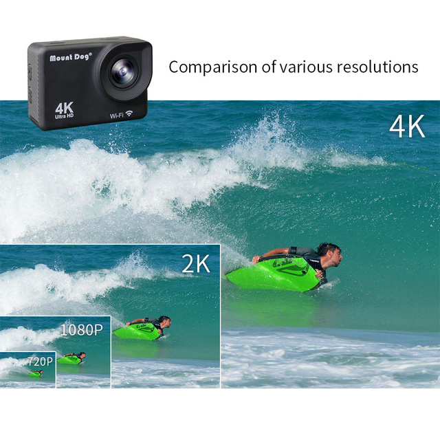 MountDog Underwater Ultra HD 4K Action Camera With WiFi Sports Video Recoding Waterproof Action Cam 1