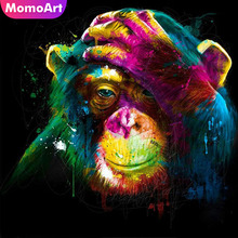 MomoArt Diamond Painting Monkey Mosaic Full Drill Square Picture Of Rhinestone Embroidery Cartoon