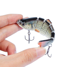 LUREASY fishing lure minnow high quality crankbaits wobbler sinking  Lifelike Multi-section artificial bait tackle