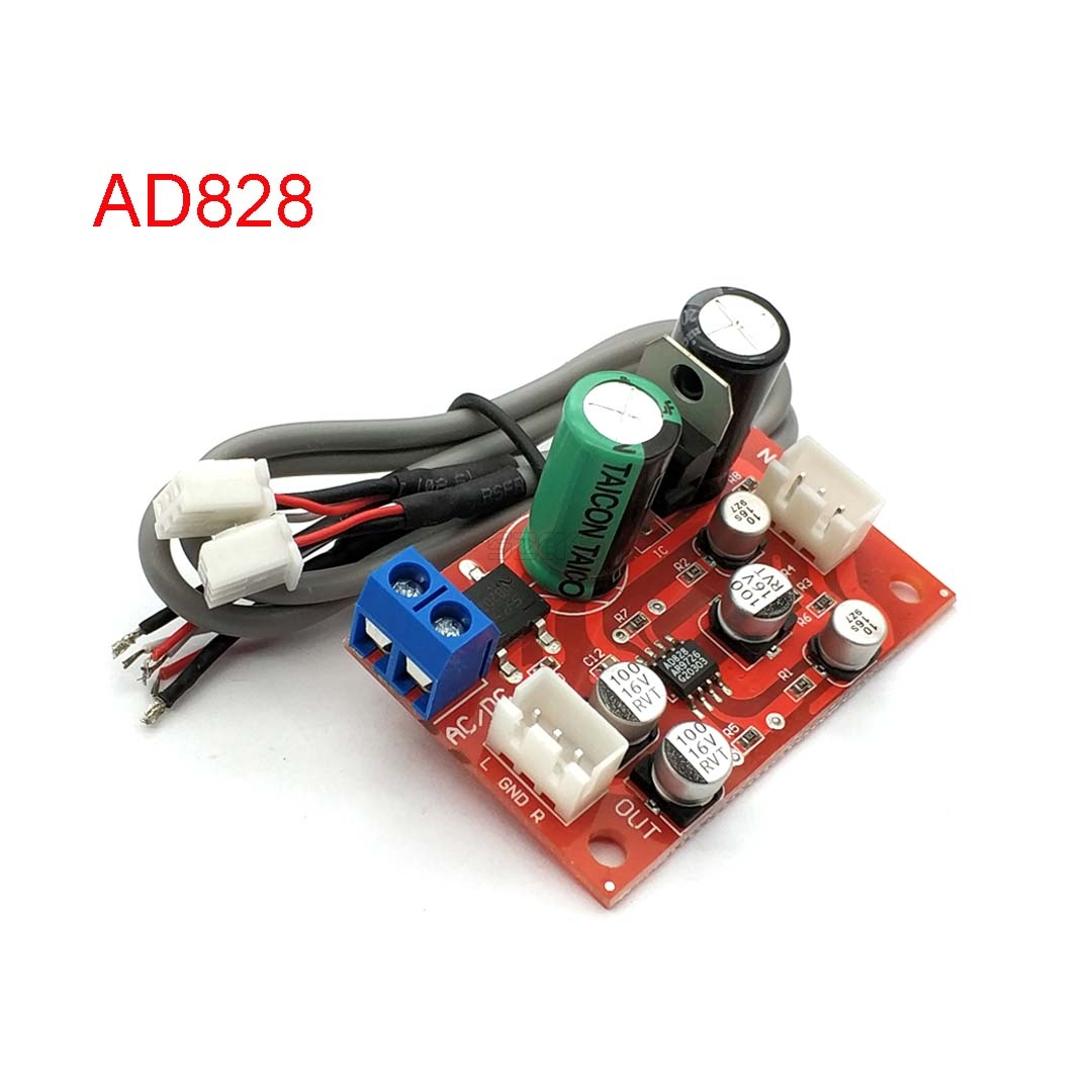 AD828 <font><b>Audio</b></font> OP AMP Moving Coil Microphone Preamps <font><b>Pre</b></font>-<font><b>Amplifier</b></font> <font><b>Pre</b></font>-amp Magnetic Head Phono <font><b>Amplifier</b></font> Board DC9-24V AC8-16V image