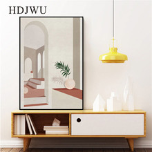 Nordic Simple Art Wall Painting Picture Architectural Geometry Home Printing Poster for Living Room  DJ654