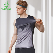 VANSYDICAL koszulki koszykarskie mężczyźni bez rękawów oddychająca koszulka bez rękawów koszulka do biegania kamizelka sportowa topy odzież sportowa męska odzież sportowa tanie tanio Wiosna Lato Poliester Pasuje prawda na wymiar weź swój normalny rozmiar Polyester Spandex Quick Dry Breathable Moisture Absorption Perspiration Anti-friction
