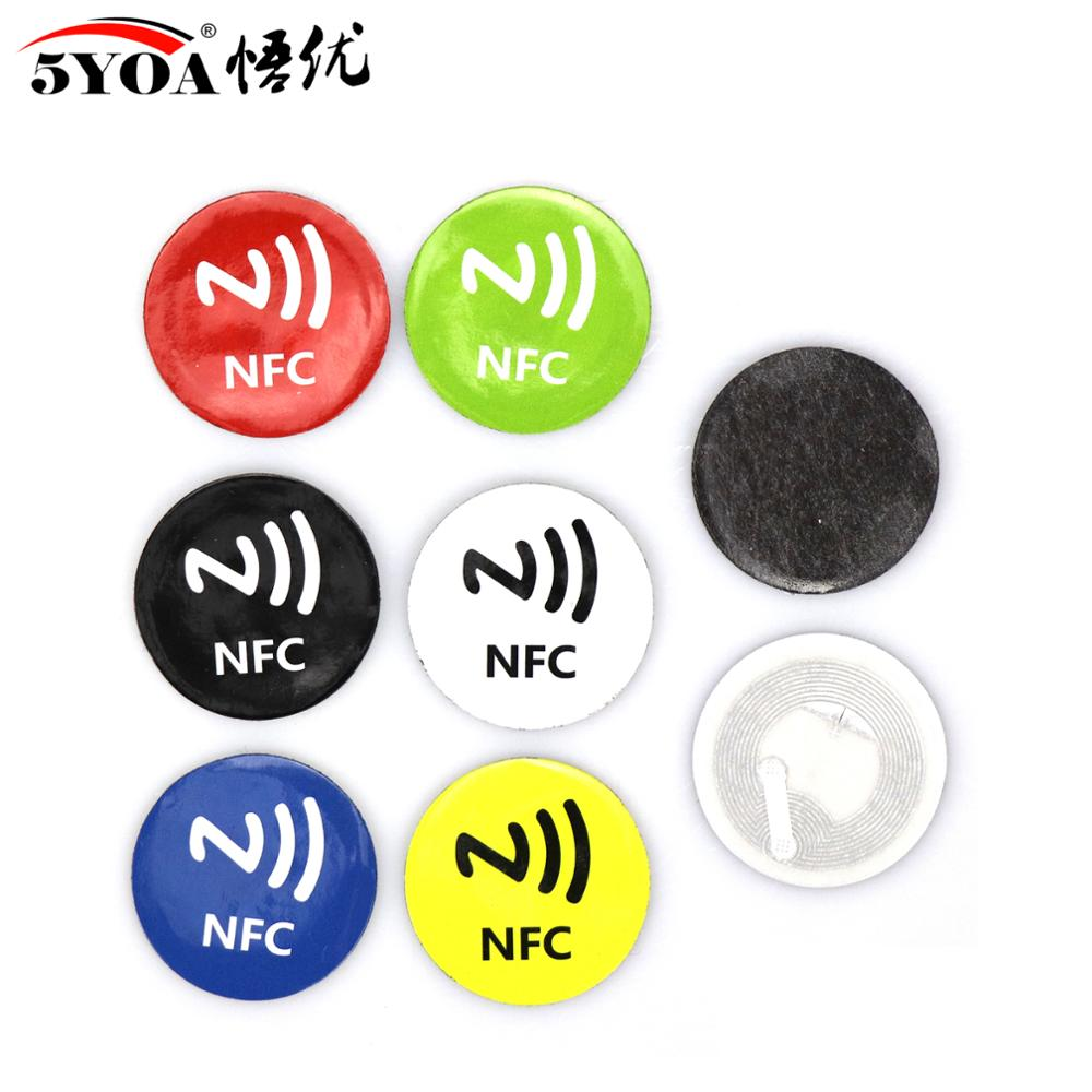 6pcs/lot NFC Tags Stickers NFC213 Anti Metal RFID Adhesive Label Sticker Universal Lable NFC213 Tag For All NFC Phones