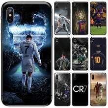 Ronaldo Sepak Bola Superstar Lionel Messi Hitam Cell Phone Case untuk Iphone 5 5s 5c Se 6 6S 7 7 Plus X Xs Xr 11 Pro Max(China)