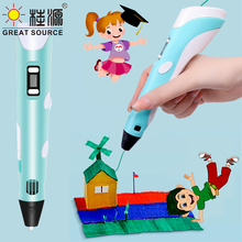 3D Printer Pen 3D Color Picker Pen 3 Sets Consume Material Electronic Photo Album Scissors and Fingerstall set(5 PCS)