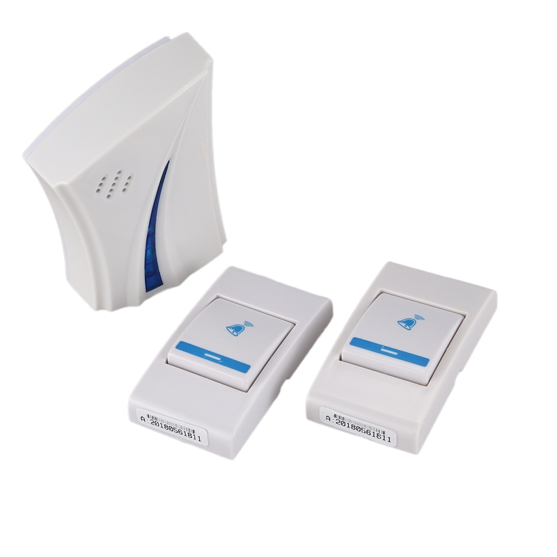 Kit Doorbell Bell Electric Wireless Doorbell Door With 36 Species Of Music (2 Pieces X Push Button, 1x Doorbell)