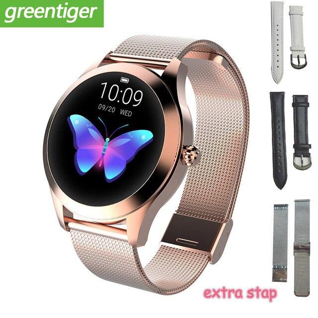 2020 Fashion Smart Watch Women KW10 IP68 waterproof Multi sports modes Pedometer Heart Rate smartwatch Fitness Bracelet for Lady