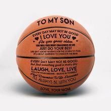 Mama i tata do mojego syna koszykówka hurtowo lub detalicznie tanie piłka do koszykówki oficjalna rozmiar7 koszykówka z torba z siateczką + igła