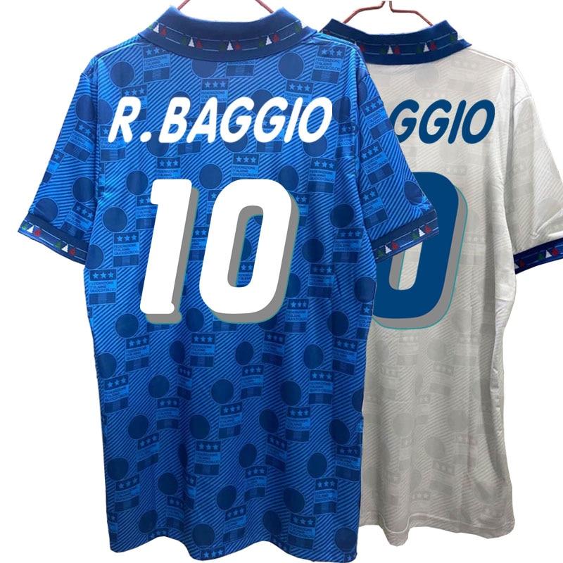 Italy 1994 Retro Roberto Baggio Camiseta Home Away Jerseys High Quality Tee T-shirt Customize Melancholy Prince