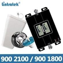 Lintratek Tăng Cường Tín Hiệu 2G 3G 900 2100MHz Repeater 2G 4G 1800 Bộ Khuếch Đại 900 1800 LTE GSM 3G 4G Tăng Áp KW17L GW GD