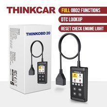 Thinkcar thinkobd 20 scanner automático ferramenta de diagnóstico do carro leitor código automotivo verificar a luz do motor dtc lookup diagnosticar ferramenta