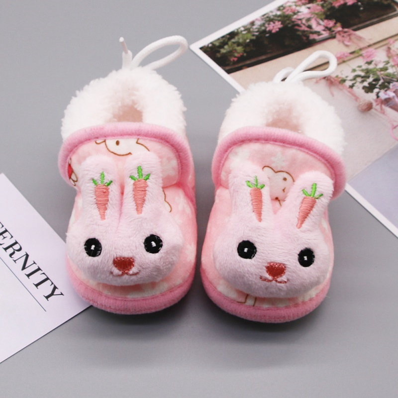 Winter Sweet Newborn Baby Girls Princess Winter Shoes First Walkers Soft Soled Infant Toddler Kids Girl Footwear Shoes