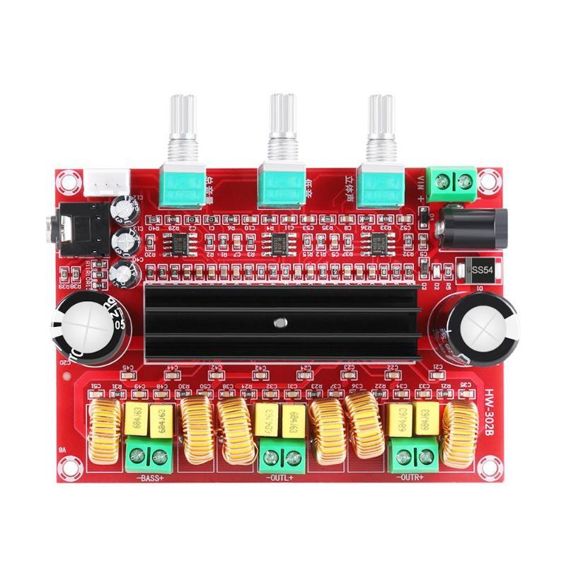 Tpa3116d2 2.1 módulo de amplificador de potência de áudio digital dc 24 v 80wx2 + 100 w 3 canais para 4-8 ohm alto-falante