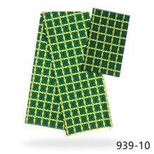 Hot Sale African Wax Prints Fabric Silk Satin Chiffon 4+2 Yards Ankara chiffon 939