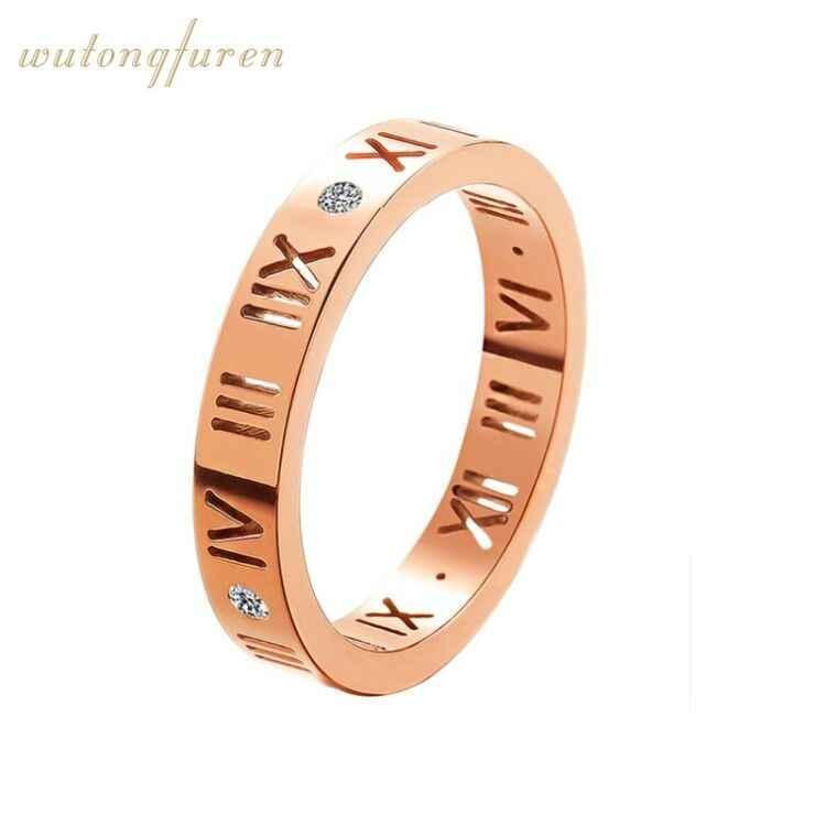 זול אופנה קלאסי יוקרה מפורסם מותג חתונה אהבת טיטניום פלדת טבעת עבור נשים/גברים תכשיטי צלב