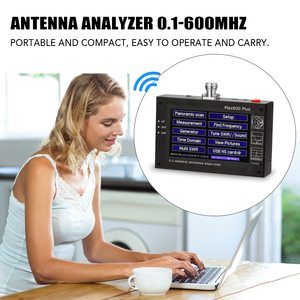 Image 5 - Max600 Plus HF VHF UHF Antenna Analyzer 0.1 600MHz 5V/1.5A with 4.3inch TFT LCD Touching Screen Digital Standing Wave