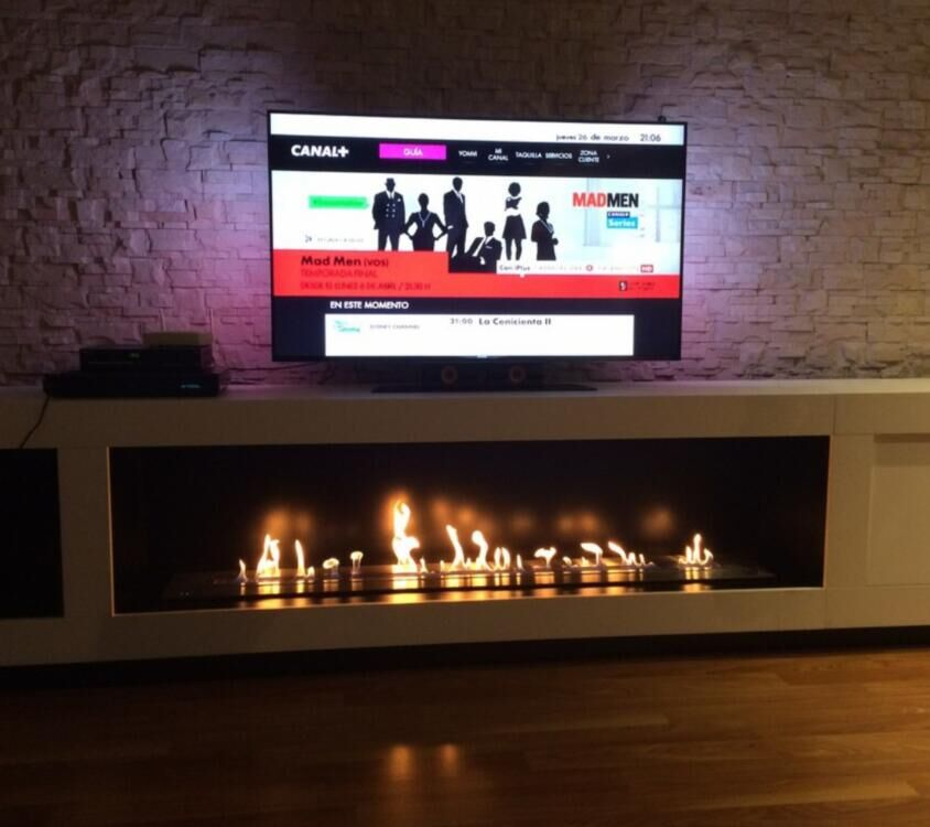 Hot Sale 48 Inches Luxury Ethanol Flame Fireplace Ventless Google Home Enabled Burner Insert