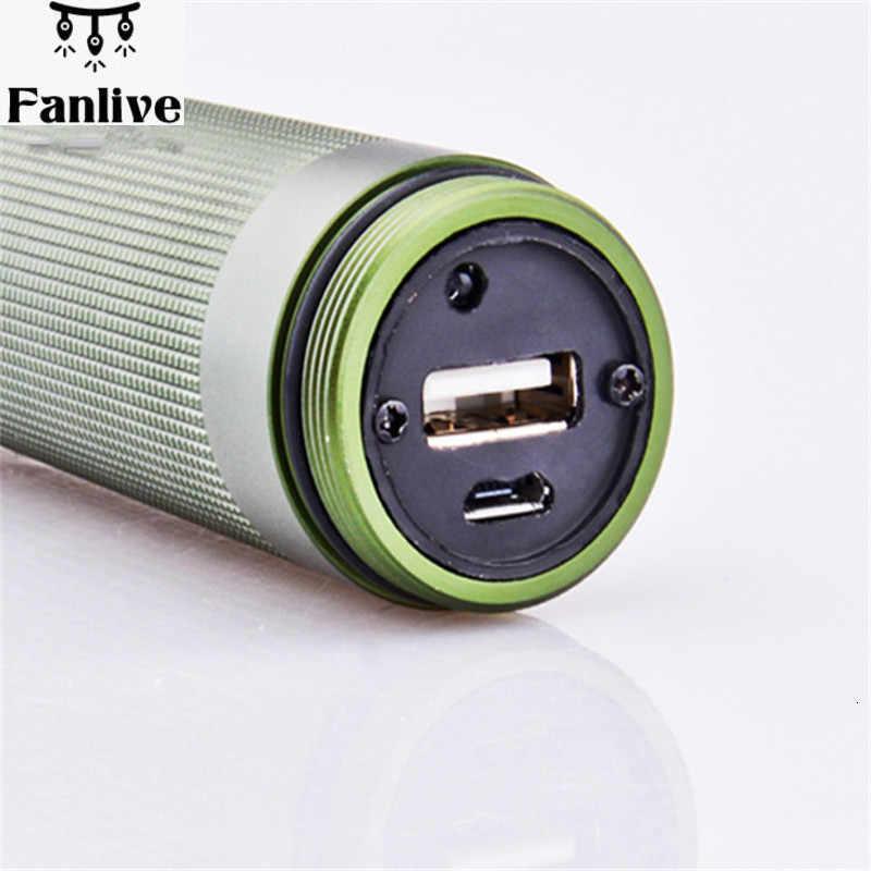 قابلة للشحن عالية الطاقة فانوس 26650 USB قابلة للشحن الطوارئ نظيفة بطارية هوائية