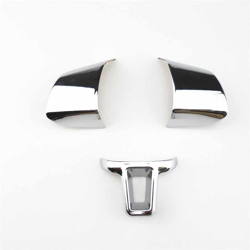 3 Piece Steering Wheel Dekorasi Flap Penutup Stiker Untuk Volkswagen VW Golf 6 MK6 Polo Jetta MK5 2009 2010 2011 polo