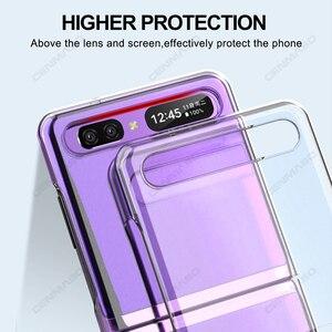 Image 3 - Grma Originele Huidvriendelijk Clear Crystal Hard Pc Back Cover Voor Samsung Galaxy Z Flip Case Sm F700F Voor Galaxy Z Flip Telefoon