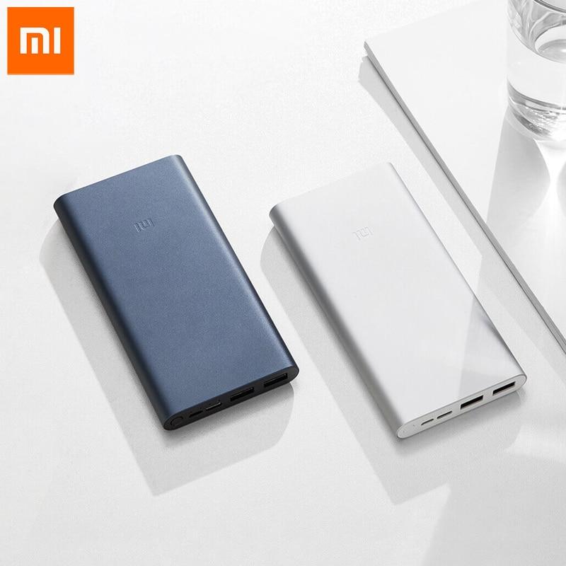 Xiaomi Mi batterie dalimentation 3 10000mAh18W chargeur rapide Micro-USB USB-C Powerbank de voyage pour Android