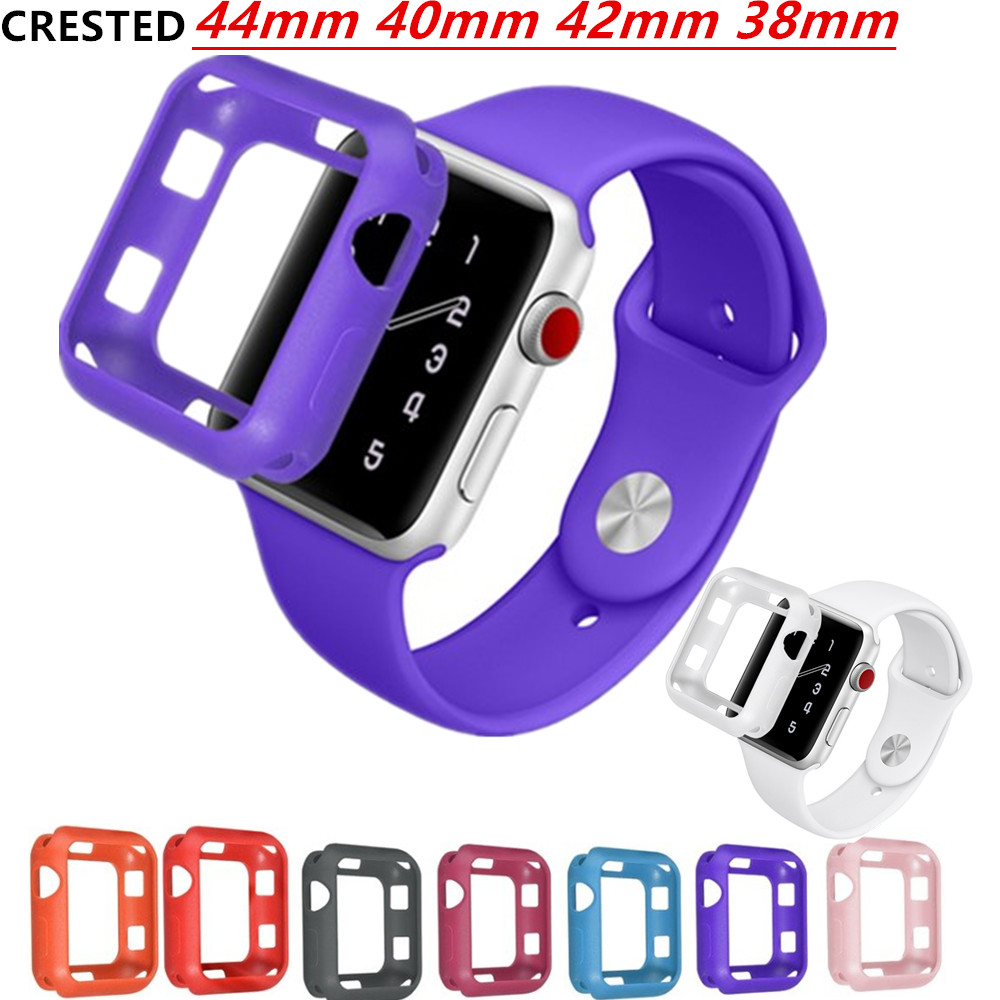 Case Cover For Apple Watch 4 3 5 Case 44mm/40mm Apple Watch Band 42mm 38mm IWatch Case 3 2 1 Frame Full Protective Case Bumper
