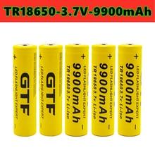 2021 new GTF 18650 battery 9900mah 3.7V large capacity battery lithium ion battery for flashlight