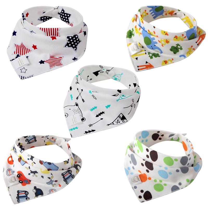 5 шт./лот детские нагрудники бандана мода отрывистый салфетки для новорожденного одежда девочка слюнявчик малыша красочные шарф нагрудник