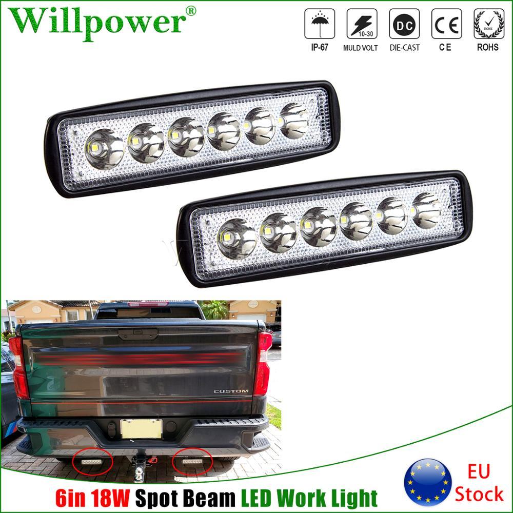 """2x18W 6 """"Slim Barra de luz LED de obra lugar para Jeep Off Road ATV UTV UTE SUV camión 4X4 4WD parachoques de vainas de Mini luz de conducción antiniebla"""