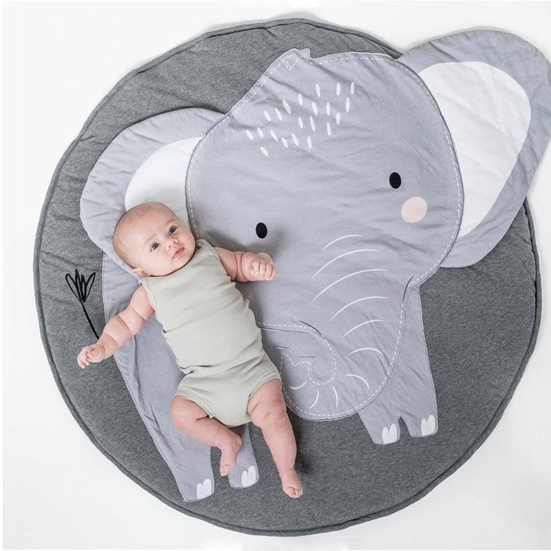 World Map Soft Round Kid Carpet Play Rug Game Mat Bedroom Baby Crawling Blanket