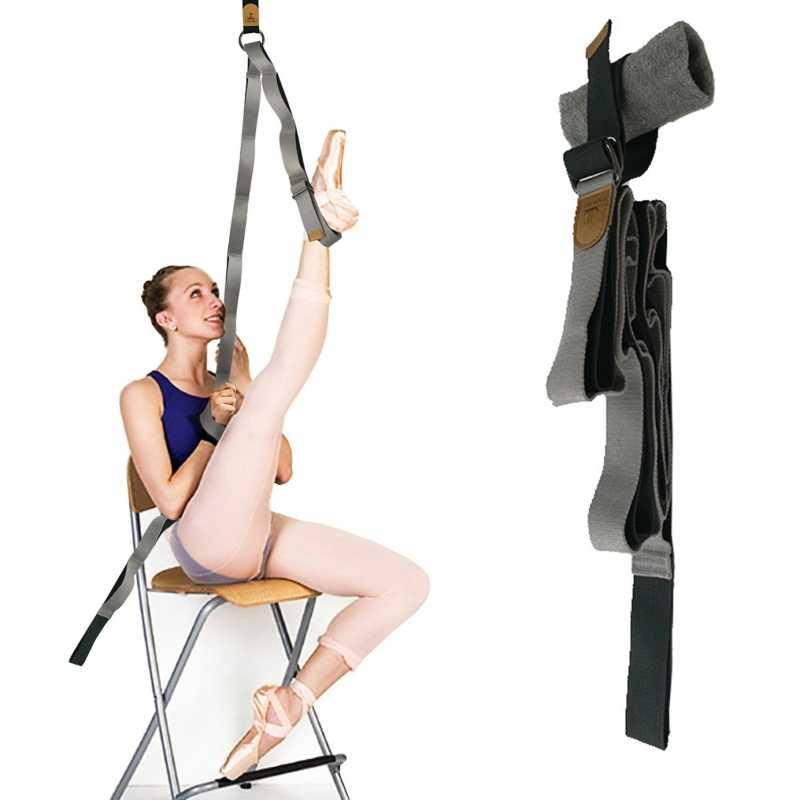 Kobiety joga pas elastyczny z pętli wiszące drzwi joga taniec lina treningowa nogi nosze pasek do tańca Split pas treningowy 1PC