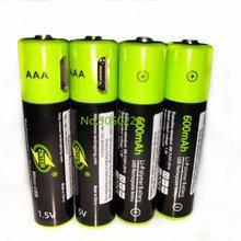 4 шт/лот znter mirco usb аккумуляторная батарея 15 в aaa 600