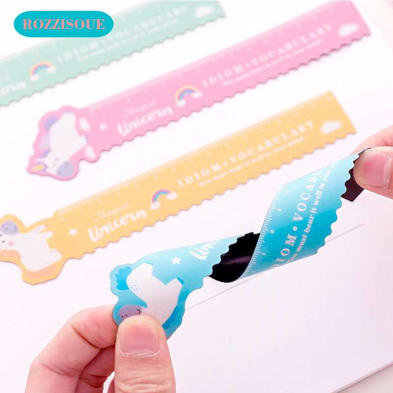 3PC Flexible Ruler Unicorn Straight Cute Ruler 15 Cm Measure Righello Study Drawing Student Stationery School Office Supply Gift