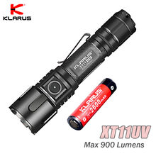 Original Klarus XT11UV LED linterna luz UV CREE XP-L V3 3 * 365nm UV 900LM Linterna recargable con USB con batería 18650(China)