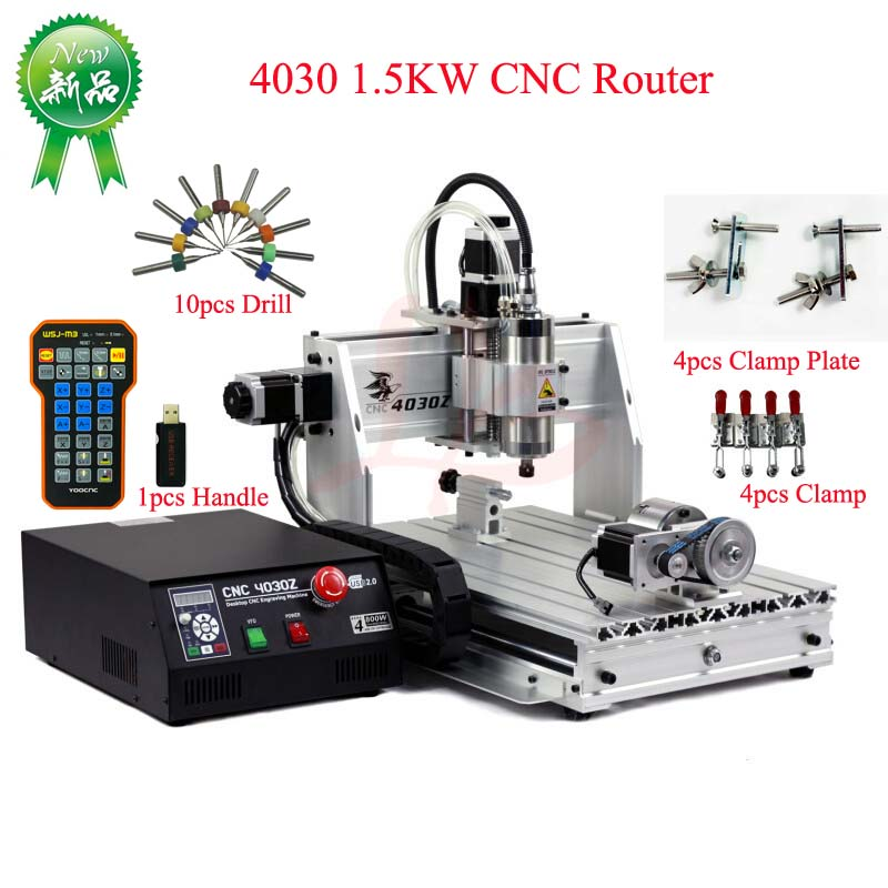 4030 CNC Router Engraver 1.5KW YOOCNC Engraving Drilling And Milling Machine With USB Port Add Handle