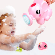 Baby cartoon elephant shower cup newborn child shower shampoo cup for Baby Shower Swimming Toys For Children Gift Drop Shipping(China)