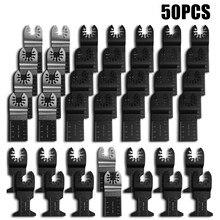50 pçs oscilante viu lâminas conjunto disco de corte kit diy renovador oscilante multi ferramenta para fein multimaster dewalt 34/45mm