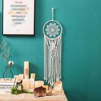 Makrome dokuma Dreamcatcher Bohemian duvar sanatı asılı goblen süs ev daire yurt yatak odası süslemeleri
