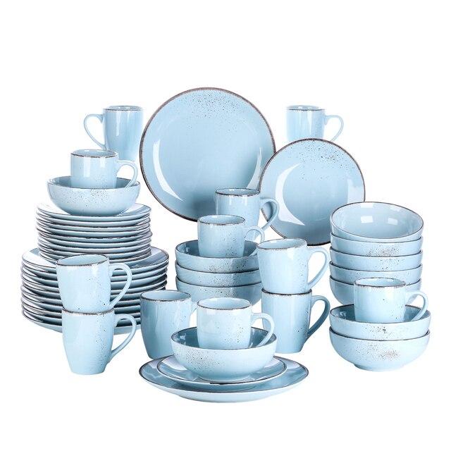 Service 16 pièces en grès bleu