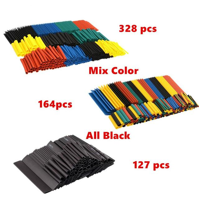 Shrinking 328Pcs Insulation Sleeving Thermal Casing Car Electrical Cable Tube kits Heat Shrink Tube Tubing Wrap Sleeve Assorted 1