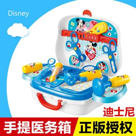 original da disney mickey genuina simulacao medico equipamentos medicos caixa de viagem portatil conjunto de