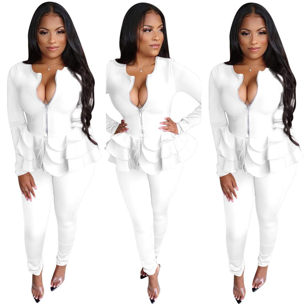 Office Style Autumn Elegent Women's Suit Two Piece Set Women Long Sleeve Suit Pants 2 Piece Set Female Winter Two Pieces Set