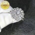 18k white gold ring ...