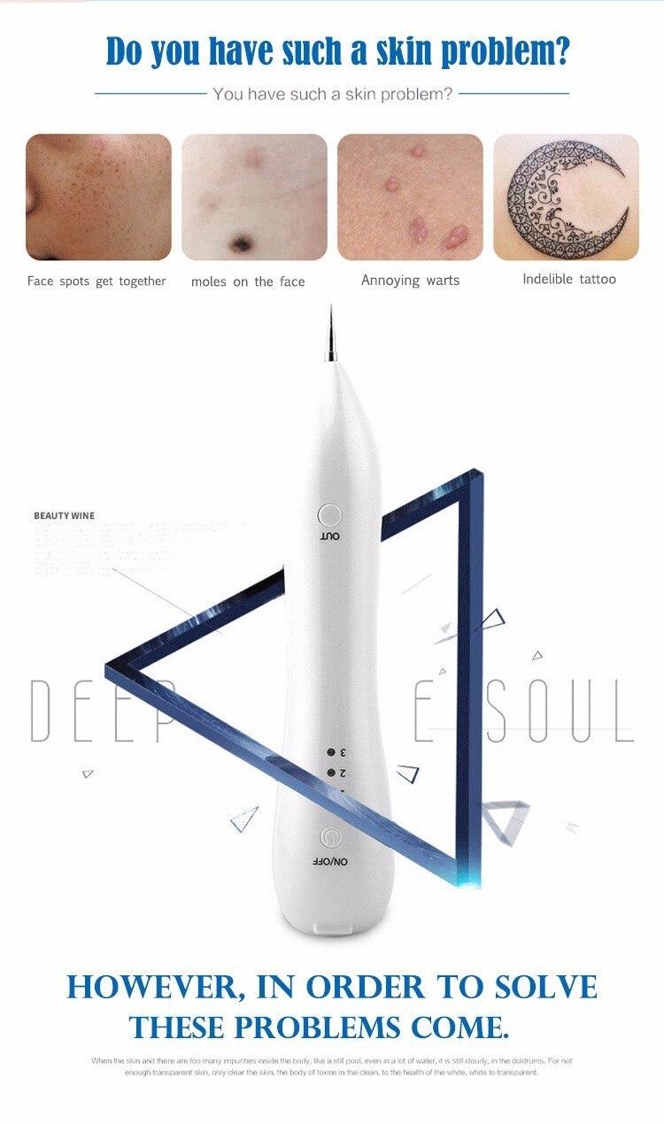 Skin Care Tools Laser Freckle Tattoo Skin Spots Mole Removal Pen pimple Verrugas Wart Tag Dark Spot Remover For Face Machine Pen