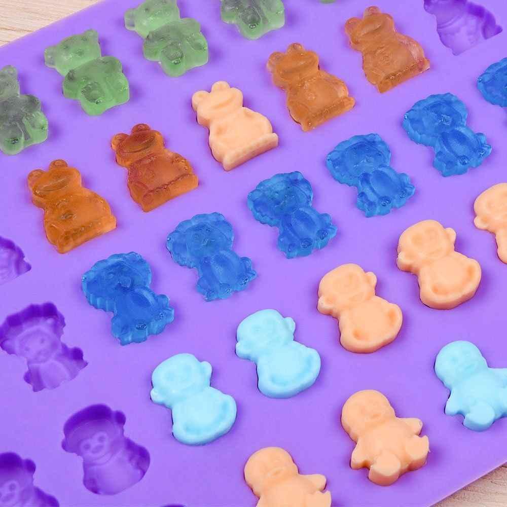 Siliconen Chocolade Mallen Siliconen Snoep Gummy Beer Mallen Beren Kikkers Leeuwen Apen Penguins Vorm Mallen Cake Decor Gereedschap