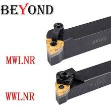 BEYOND WWLNR MWLNR wwlnr161608 WWLNR2525 portaherramientas de tornear CNC WWLNR2020K08 MWLNR1616, herramientas de torno, insertos de carburo WNMG080408
