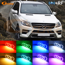 For Mercedes Benz M Class W166 ML 2011-2015 Excellent RF remote Bluetooth APP Multi-Color Ultra bright RGB LED Angel Eyes kit