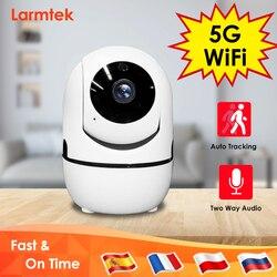 IP Камера 5G Wi-Fi Видеоняни и радионяни 1080P модуля радиоуправления мини CCTV безопасности Камера AI автоматическое слежение за двухстороннее ауди...