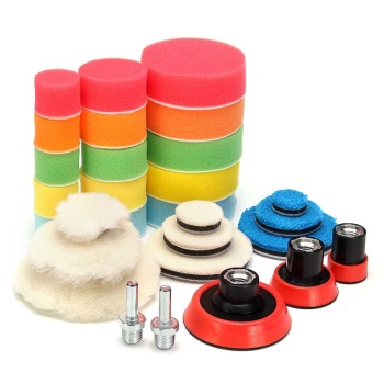 29Pcs 1-3 inch Polishing Disc Buffing Buffer Pad Polishing Pad Auto Car Polishing pad For Car Polisher With M14 Thread